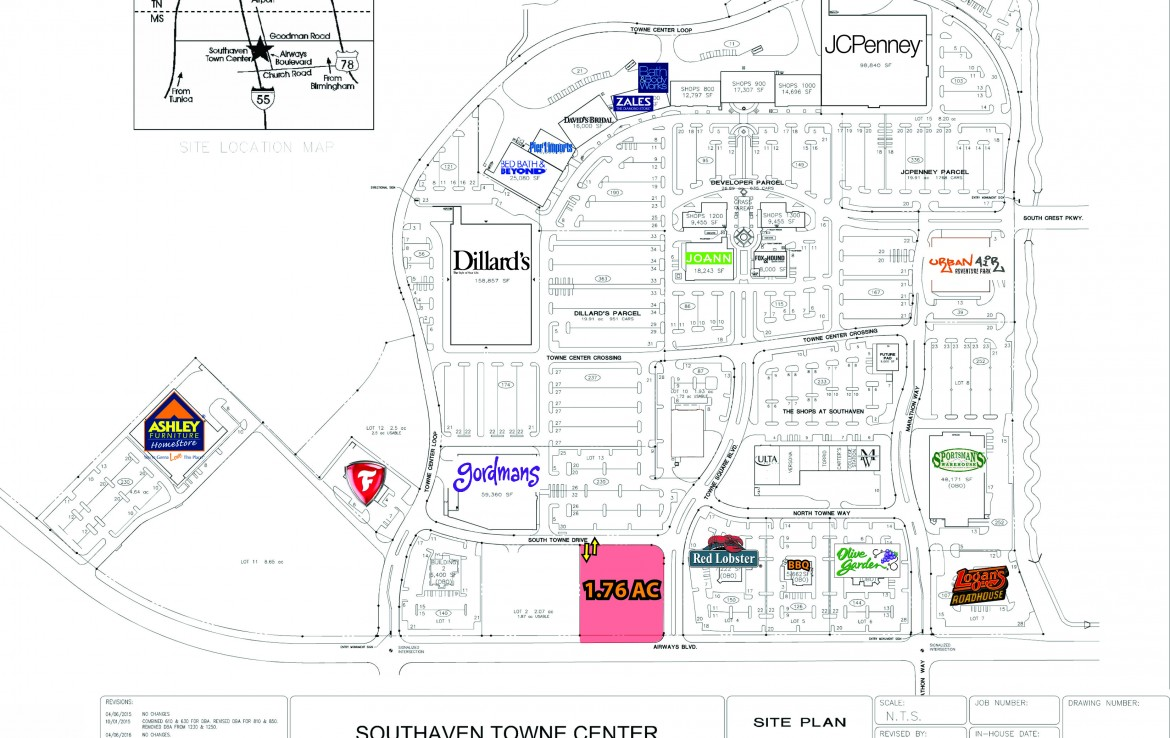 Southaven Towne Center Site Plan