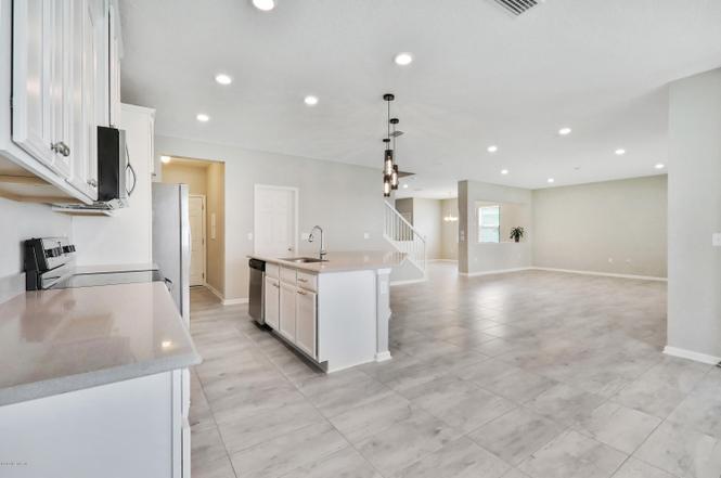 Home Interior Kitchen plus open floor plan view