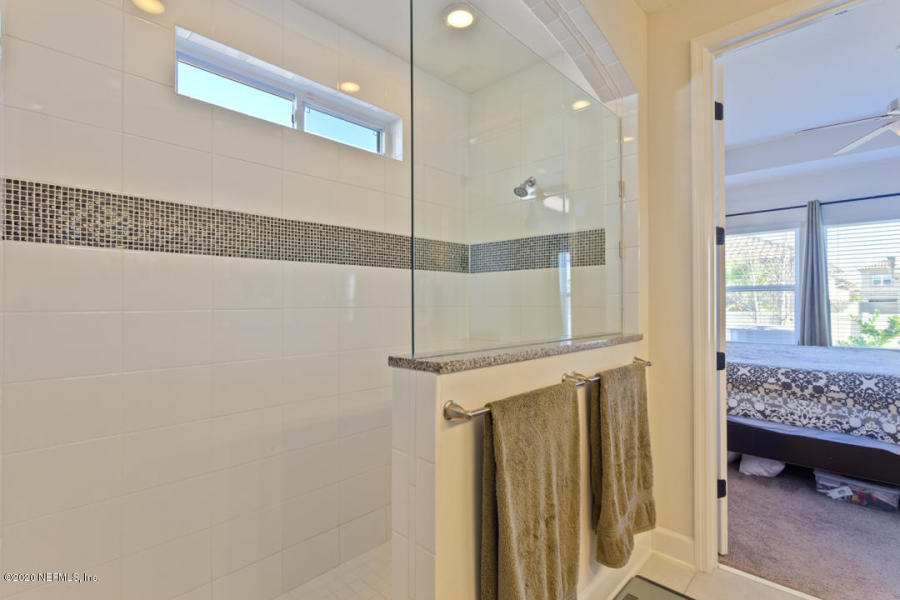 Master Bathroom tiled shower